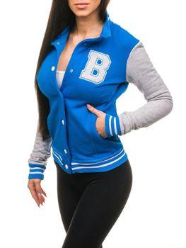 Bolf Damen Baseball Sweatshirts Blau 19S