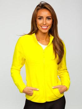 Bolf Damen Fleece Sweatshirt Gelb  HH001