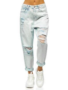 Bolf Damen Jeanshose mom fit Azurblau  WL1691