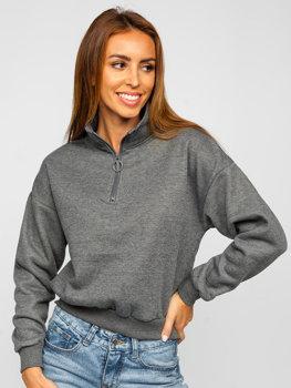 Bolf Damen Sweatshirt Schwarzgrau  KSW2023