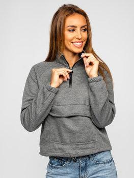 Bolf Damen Sweatshirt Schwarzgrau  KSW2032
