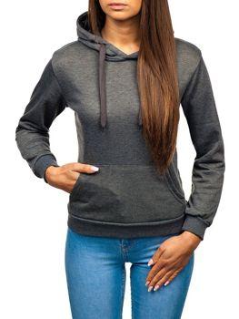 Bolf Damen Sweatshirt Schwarzgrau  wb11001