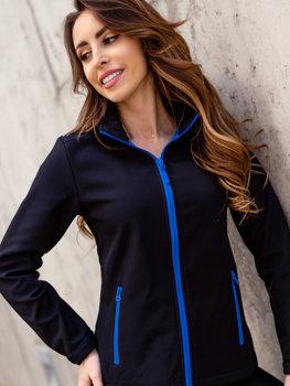 Bolf Damen Übergangsjacke Softshell Jacke Schwarz-Blau  HH018
