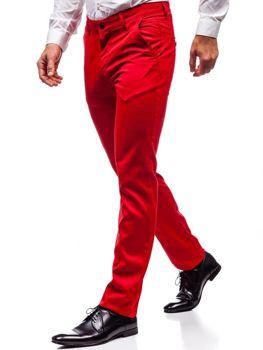 Bolf Herren Ausgehhose Rot  3149