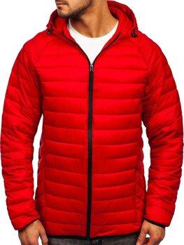 Bolf Herren Gepolsterte Übergangsjacke Rot 13021