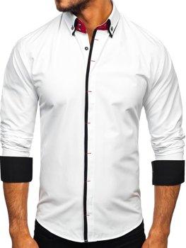 Bolf Herren Hemd Elegant Langarm Weiß  2767-1