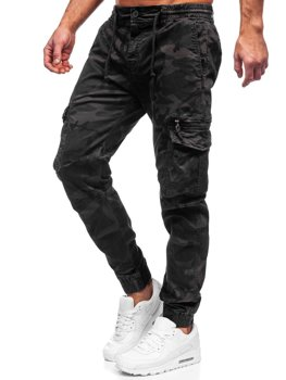 Bolf Herren Hose Jogger Pants Cargohose Schwarzgrau CT6026S0