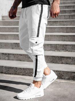 Bolf Herren Hose Jogger Pants Cargohose Weiß  0012-1