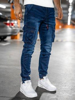 Bolf Herren Jeanshose Jogger Pants Cargohose Dunkelblau slim fit 51002W0