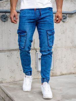 Bolf Herren Jeanshose Jogger Pants Dunkelblau  HY689