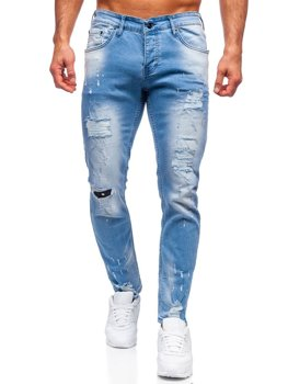 Bolf Herren Jeanshose regular fit  Blau  R916