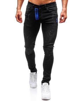 Bolf Herren Jeanshose skinny fit Schwarz  9244