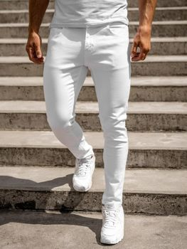 Bolf Herren Jeanshose skinny fit Weiß  KX576-12
