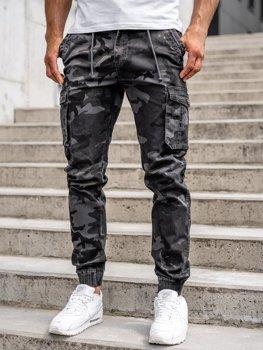 Bolf Herren Jogger Pants Cargohose Grau  CT6018