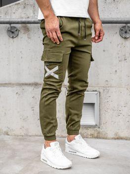 Bolf Herren Jogger Pants Cargohose Khaki  KA1910