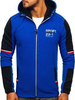 Bolf Herren Kapuzenpullover Fleece Pullover Blau  YL006