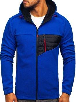 Bolf Herren Kapuzenpullover Fleece Pullover Blau  YL011
