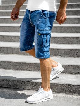 Bolf Herren Kurze Hose Jeans Shorts Dunkelblau bojówki  KR1202P-1