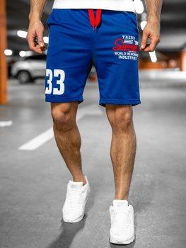 Bolf Herren Kurze Sporthose Blau EX06