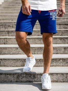 Bolf Herren Kurze Sporthose Blau  EX07-1