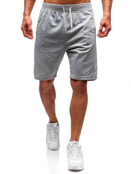 Bolf Herren Kurze Sporthose Grau  DK01