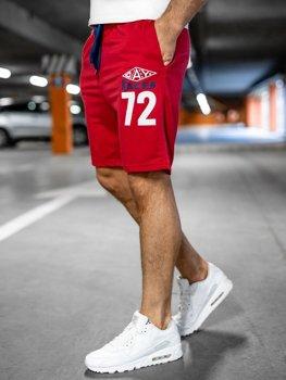 Bolf Herren Kurze Sporthose Rot EX05