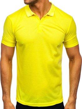 Bolf Herren Polohemd Kurzarm Gelb-Neon GD02