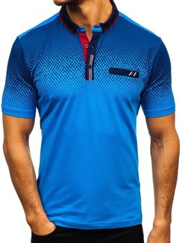 Bolf Herren Poloshirt Blau  6599