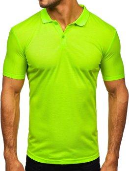Bolf Herren Poloshirt Grün-Neon  GD02