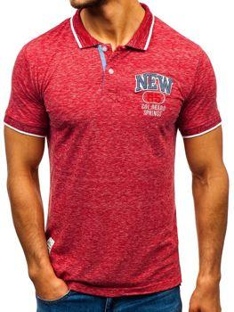 Bolf Herren Poloshirt Rot  19240