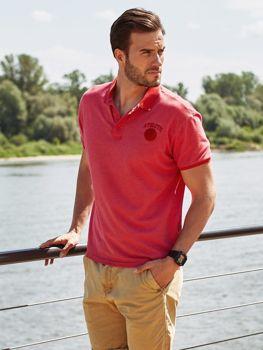 Bolf Herren Poloshirt Rot  5084