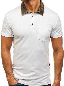 Bolf Herren Poloshirt Weiß  2066