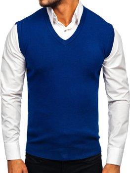 Bolf Herren Pullover Ärmellos Blau  H1950