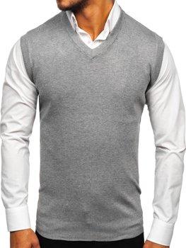 Bolf Herren Pullover Ärmellos Grau  W01