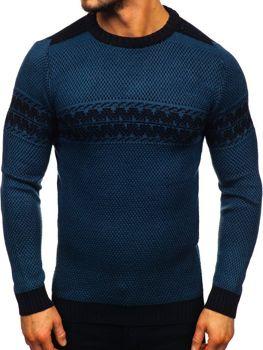 Bolf Herren Pullover Blau 1806