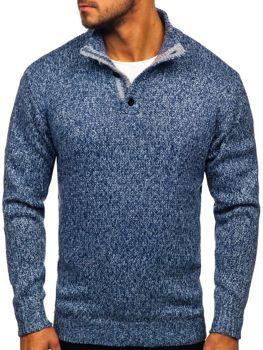 Bolf Herren Pullover Blau  P086
