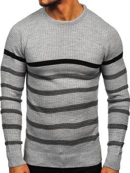 Bolf Herren Pullover Grau  1951