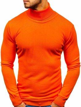Bolf Herren Pullover Rollkragen Orange  2400