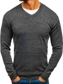 Bolf Herren Pullover V-Neck Anthrazit  H1816