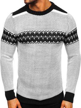 Bolf Herren Pullover Weiß 1806