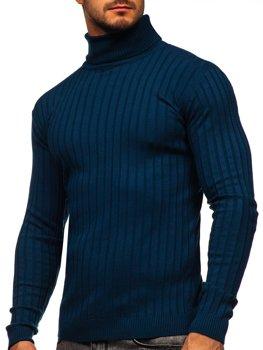 Bolf Herren Rollkragenpullover Blau  520