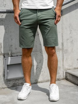 Bolf Herren Shorts Kurze Hose Grün  6142
