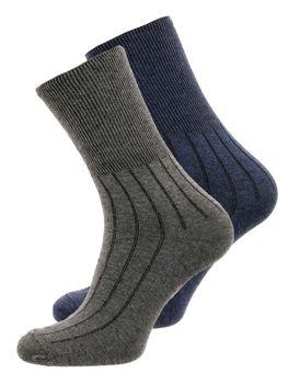 Bolf Herren Socken Dunkelblau-Grau  X10014-2P 2 PACK