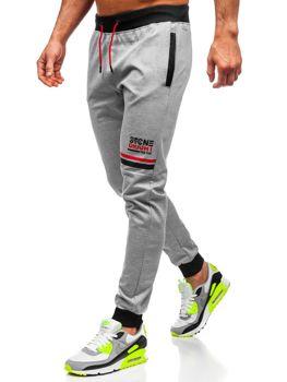Bolf Herren Sporthose Grau AM108