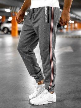 Bolf Herren Sporthose Jogger Pants Grau  Q3886