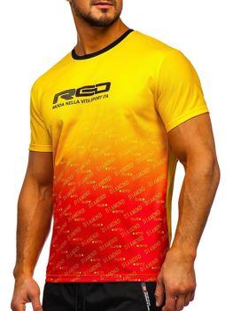 Bolf Herren Sportshirt mit Motiv Gelb  KS2064