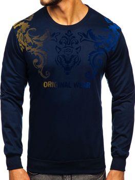 Bolf Herren Sweatshirt mit Motiv Dunkelblau  HY697