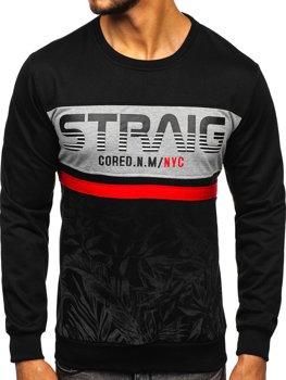 Bolf Herren Sweatshirt mit Motiv Schwarz  HY696