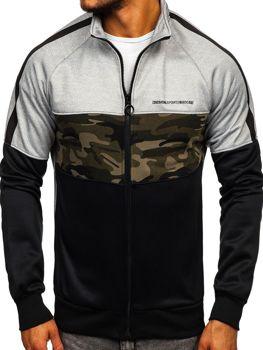 Bolf Herren Sweatshirt mit Reißverschluss Grau  88015