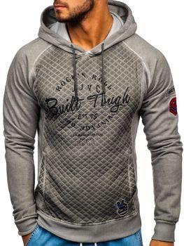 Bolf Herren Sweatshirt mit Reißverschluss Grau  GK42